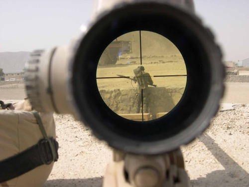 A view through the eyes of a sniper.
