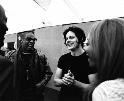 awesomepeoplehangingouttogether:  Jay Z, Jack White and Beyoncé