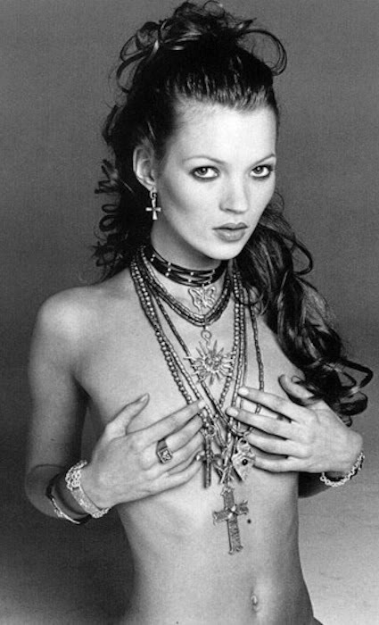 Kate Moss in jewelry.
