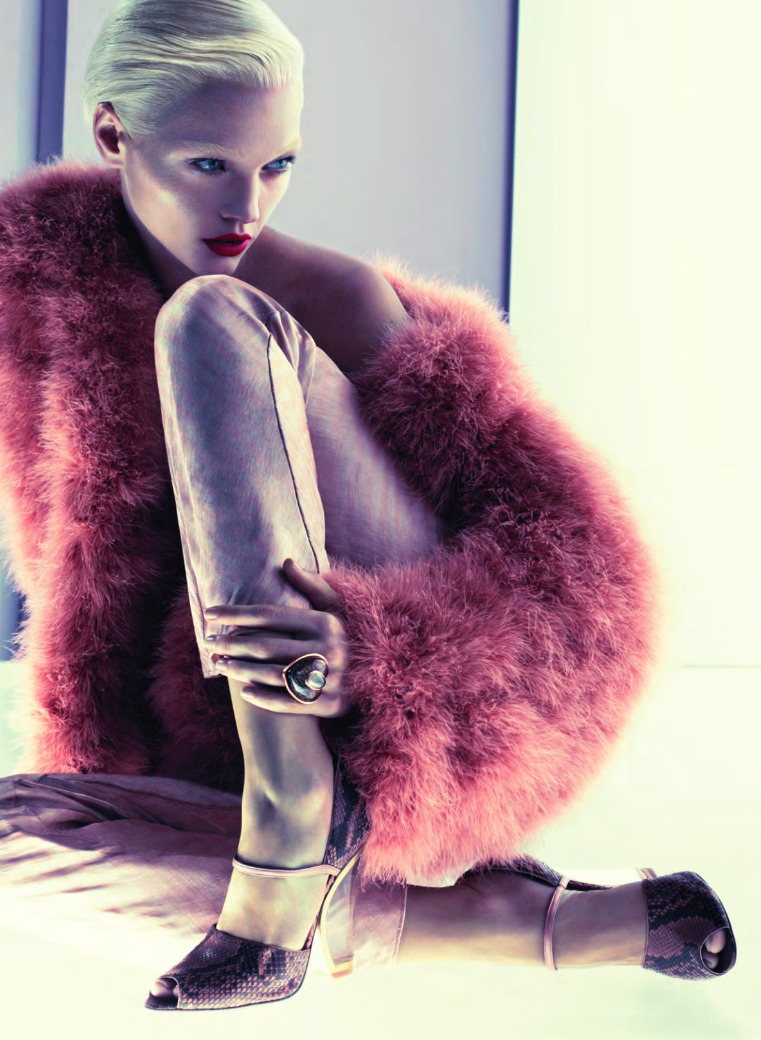Sasha Pivovarova shot by Mert & Marcus for Giorgio Armani Fall 2011