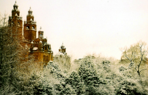 enchantedengland:    A dreamy atmospheric shot of Kelvingrove Art Gallery and Museum in Glasgow, Scotland.The museum, adjacent to Kelvingrove Park, is the most popular free attraction in Scotland as well as the most visited museum in the UK outside of London. The museum boasts one of the finest collections of arms and armour in the world along with a vast natural history collection; and outstanding European artworks from the Old Masters, French Impressionists, Dutch Renaissance, and Scottish Colourists.  (image by benedict on beautyineverything.com)