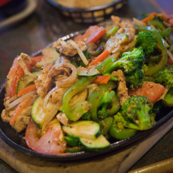Drunken Chicken Fajitas at Fiesta Del Mar Too, 735 Villa St, Mountain View, CA 94041.
