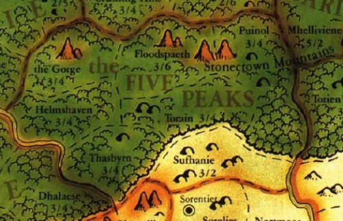 the Five Peaks - hosting this here for my gamer blog