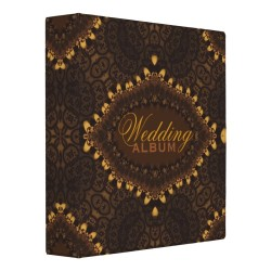 Vintage Gold Dark Gothic Lace Wedding Album Binder by Paperstation