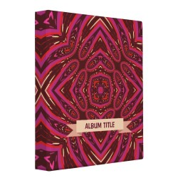 Love Surrounds Geometric Art Album Binder by Paperstation