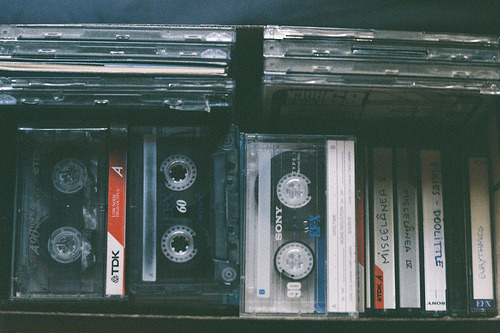 drowninginalcohol:  i miss tapes