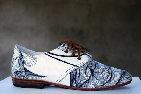 Osborn shoes partners with artisans in Guatemala - artist Justine Ashbee on a limited edition oxford shoe