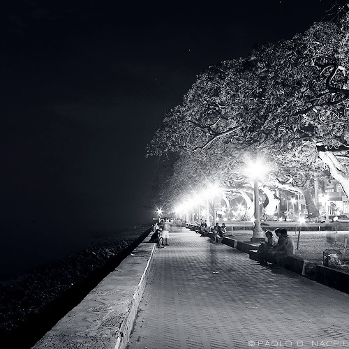 Dark vs Light Dumaguete Boulevard, Philippines Photographed by: http://capturedphotos.tumblr.com/