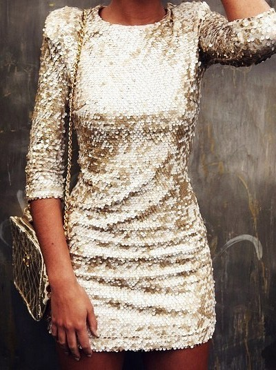 All those sequins give this classic shilouette something fresh!