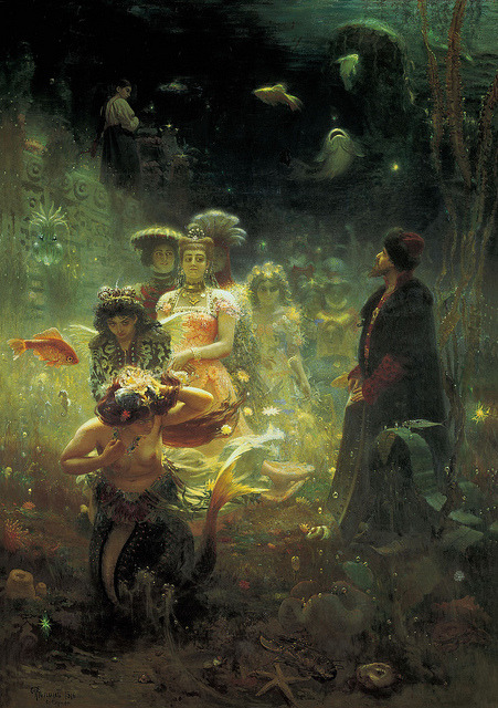 hoodoothatvoodoo:  Ilya Repin 'Sadko In The Underwater Kingdom' 1876