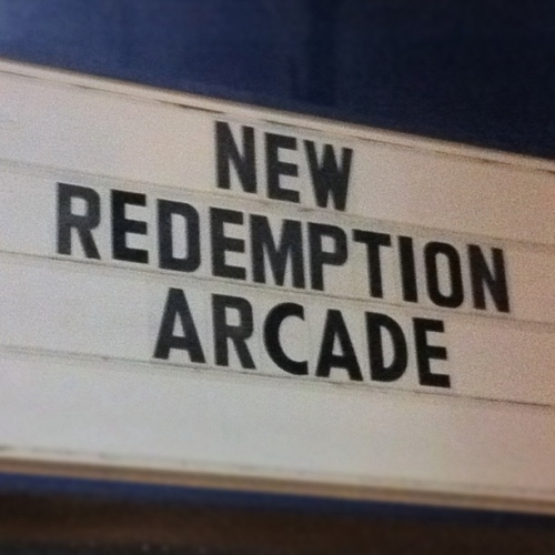 Rewind Sunday wellthatsjustgreat:  New Redemption Arcade. 10,000 tickets will absolve you of all sin and gain you eternal salvation. 25 tickets will get you a Sponge Bob pencil box. Water and wine on tap (same tap). Ag