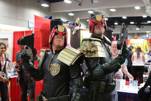 contextisfortheweak:  SDCC2011_Day3_213 by PatLoika on Flickr. Is the guy on the left jimping? (Jimp - Mega City One slang for a Judge impersonator.)   If he is then rest assured citizen that he has been properly dealt with.