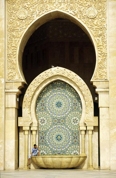 iamlareina:  Islamic design in the Hassan II Mosque.  Casablanca, Morocco