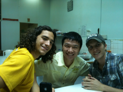 krissn:  Michael + Andrew + Forrest = sat vegan lunch and pingpong crew!