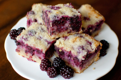 foodwhore:  Blackberry Pie Bars