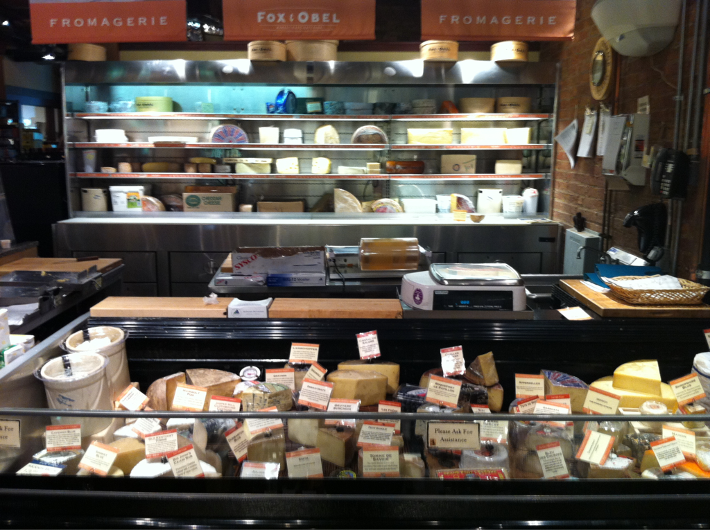 The cheese selection at Fox & Obel. Just one reason I love this place