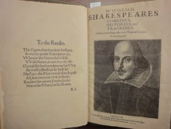 William Shakespeare, The First Folio.