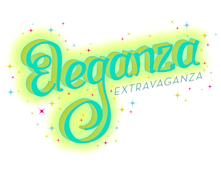 E is for Eleganza Extravaganza!  Having recently finished watching RuPaul's Drag Race, I thought a drag-licious homage was in order. So. Much. Color.