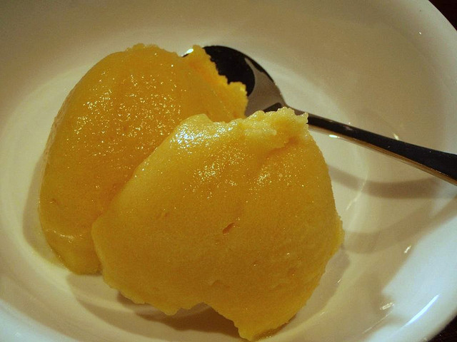 Mango sorbet by Hoppo Bumpo (Liesl) on Flickr.