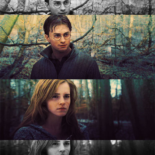 """One of the really touching elements to Hermione and Harry's story is  that even when he doesn't have faith in himself, she does."" - Emma Watson."