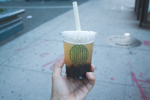 Oolong Tea + Boba = Oolong Tea and Boba