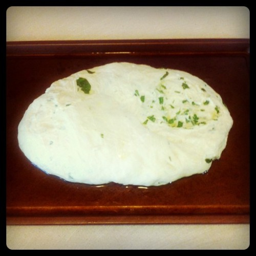 Homemade Basil Italian Bread, hoping this'll turn out okay (Taken with Instagram at 37 Caswell)