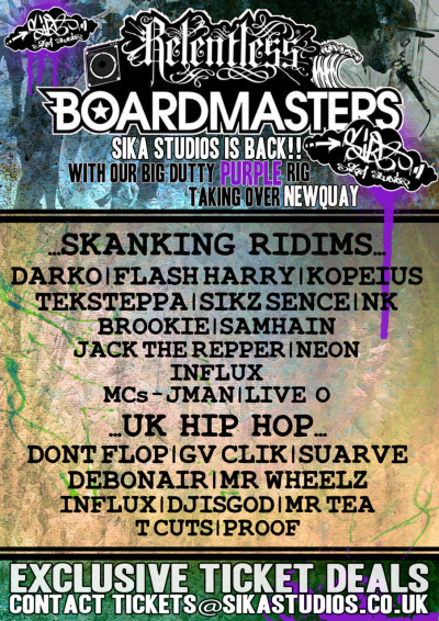 new flyer for sika studios at boardmasters 2011  check them out at http://www.sikastudios.co.uk/