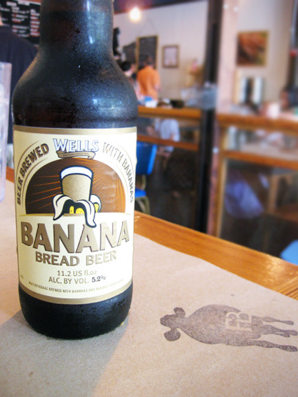Yup, you read the label right. Banana bread beer. Also available as a float at Farm Burger in Decatur, GA. Photo credit: Lush Lady