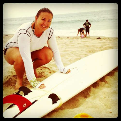 Taking my cousin surfing. Her first time! (Taken with instagram)