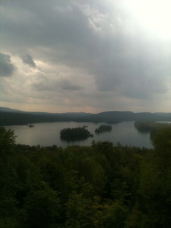 Blue mountain Lake from the edge of Blue Mountain.