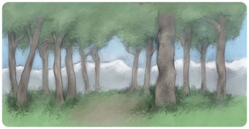 Background study for an app that hopefully someday will be made. Picture this with a subtle parallax effect. Now that I've discovered Construct 2 I could actually set this up myself… at least the parallax, I dunno about a full-blown app.