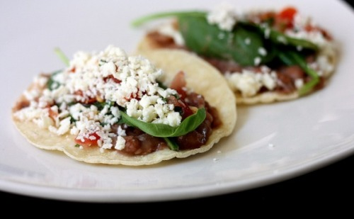 Healthy Bean Tacos with Cotija