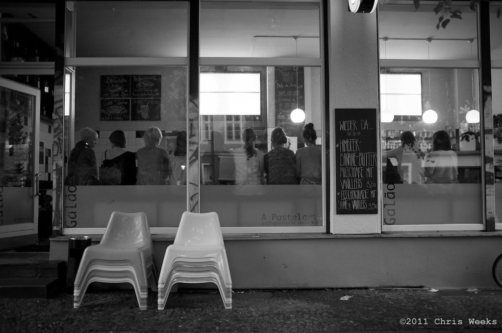 Berlin, Germany:  July, 2011.   Such patience and order.  Leica M9.  35 'lux.  Aperture » Silver Efex Pro 2.