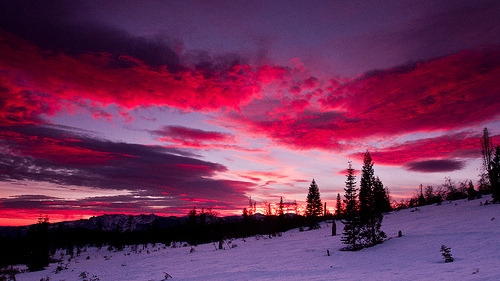 #RockTheReTweet for Tumblr. elvoret:  McCloud Sunset (by BBrown57)