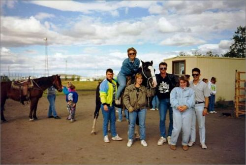 """Horse ride in Edmonton"" - 1993"