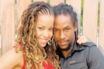 "odelia-jay:  »» Siccature ""Jah Cure"" Alock got married today. =]  me jus' ah 'ail dem!  they are such a beautiful couple. Thought so ever since i saw her in the ""Never Find"" video. Jah bless."