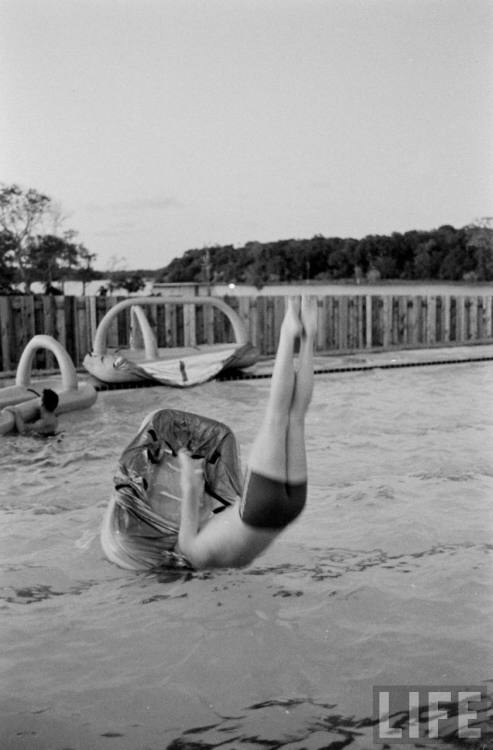 neilarmstrongbyhimself:  Neil Armstrong falls into the pool by himself.  Oh, Neil, you card.