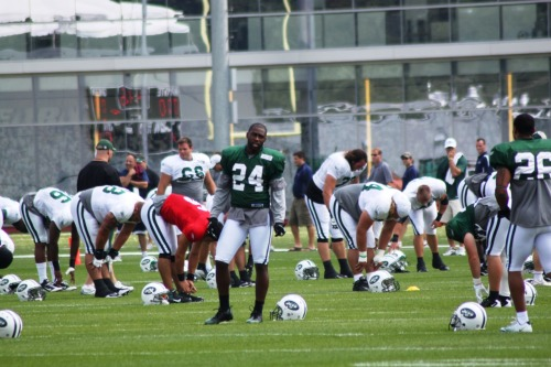 thejetreport:  REVIS AT CAMP the jet report: What a difference from camp last year. At this time in 2010 Revis was holding out. It hurt him. In week one he played the safe, lesser used side of the field. In week two he got burned by Randy Moss, then hurt.