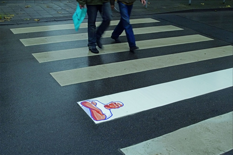 mpilch:  Mr. Clean crosswalk  Brilliant.