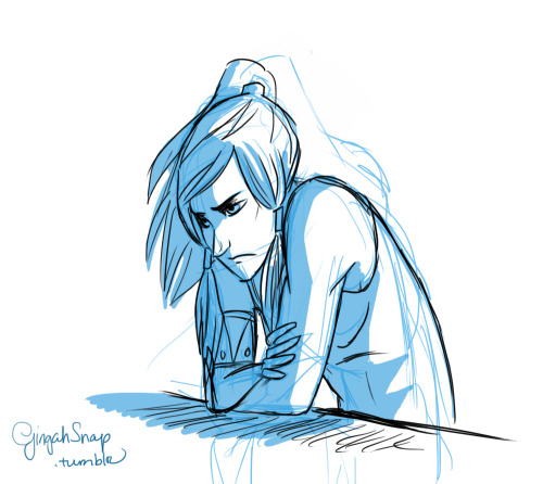 Angsty Korra sketch. Yet another addition to my obsession. Gaaah, I need ideas! Someone tell me what to draaaaaaawwwwwwww. D: