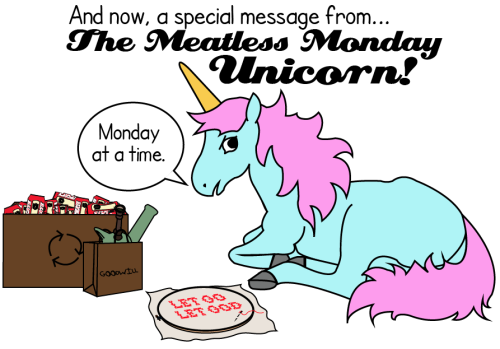 The MMU is back from rehab! Yay! Taking it Monday at a time. As always, click through to flickr to send to your omni friends so they remember not to eat the meats today!
