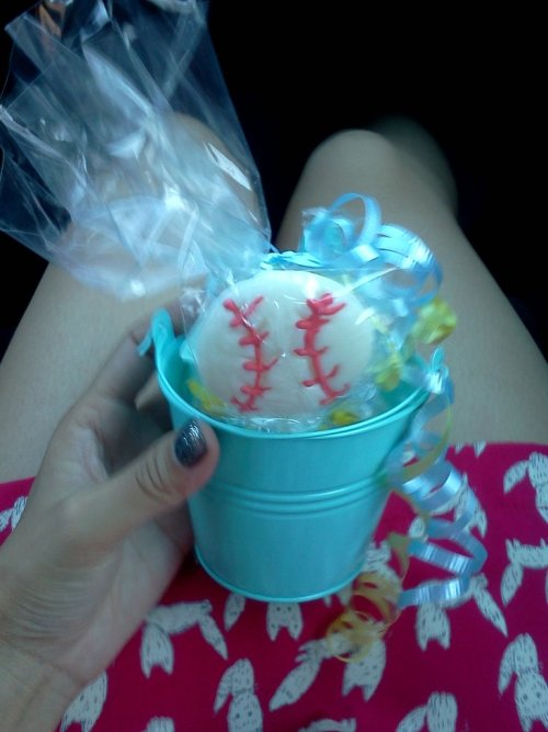 Baseball lollipop! Now gotta drive back to LA :( (Taken with picplz.)