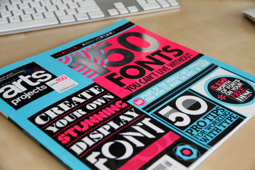Attention type geeks! Check out Computer Arts Projects issue 150. It's a great quick reference for a handful of different fonts, and also comes with some nice free ones on disc.
