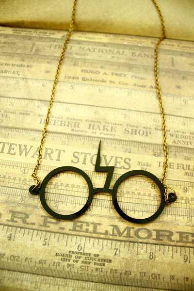 Lightning Scar Glasses - Harry Potter by SixAstray on etsy