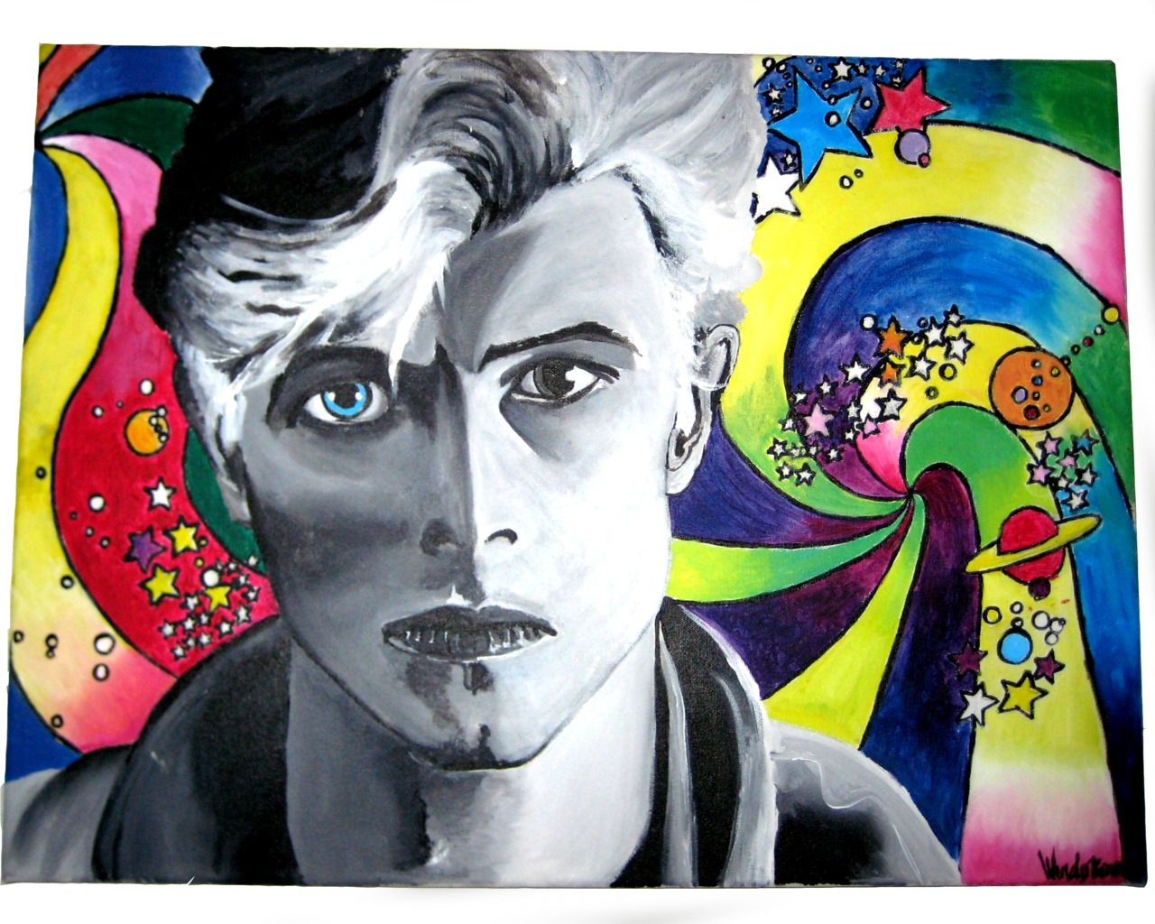 © WendyBird (Wendy Bowman) Ziggy Stardust, 2006, Acrylic on Canvas