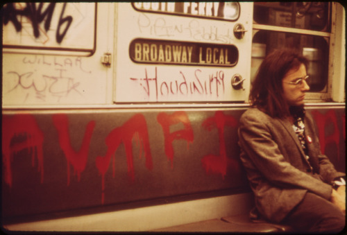 Subway graffiti Erik Calonius May 1973