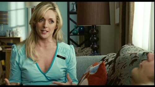 Jane Krakowski, also known as the crazy starlet Jenna Maroney on 30 Rock, appeared in 2008's The Rocker, as Rainn Wilson's (yep, Dwight Schrute from The Office) girlfriend, Carol.  Thank you lynettifoo for another beautifully submitted post. Follow us on Twitter @ISpyAFamousFace!
