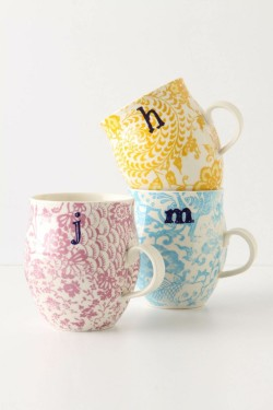 Homegrown Monogram Mug by Anthropologie