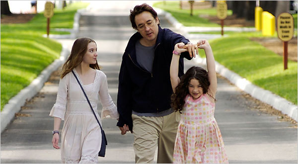 The Cusack Chronicles: Grace is Gone (2007) This is an extremely tough movie to watch and it is not because it is bad, actually it is just the opposite.  It is a tough movie to take in because of the subject matter and how delicately the director and writers handled it.  Stanley (Cusack), the husband of a woman in the military, receives the news that she was killed in action.  Instantaneously, he decides to take his two daughters on a trip to Enchanted Gardens because his youngest wanted to go there.  The movement of the story revolves around the wrenching agony of when Stanley is going to break the news to his daughters when the rest of the immediate world already knows.  The movie is tough because of the emotional tension felt in Stanley's character and its resolution in the inevitable conclusion.  Regardless of Cusack's political views and more than likely most of the views of the people who worked on this film, they avoided making politically volatile statements.  Instead they let the story (the story of hundreds and hundreds of families in the US and in the world) speak for itself.  The only statement that is made in this movie is that war inevitably ends in devastation in one form or another, regardless of whether it is justified or not.  Life is taken, and the survivors are left to pick up the pieces. The absolute beauty of this film is the acting by Cusack and the two girls who played his daughters.  All of them did amazing work and made it realistic AND emotionally powerful.  The movie never succumbed to what I call emotional manipulation (aka Nicholas Sparks syndrome) where the whole movie was just a means to a predetermined end (oftentimes crying and saddened mothers, wives and daughters).  Yes, you are supposed to have an emotional response to this movie, especially by the end, but that response will not be the same for everyone.  All I could think of during the film was the promise of God wiping away our tears and healing our sorrows on that not so distant day.  We are stuck in a world where death is inevitable.  It is also the final enemy of God, but He has promised to overcome it.  Yes, the wounds are deep and serious and, oftentimes, violent, but just as the man and his two daughters sit on the beach watching the sun go down, there is a sense of hope in the film.  And this hope is the feeling that one day there will be no pain, no tears, no violence, no war, and no death.  This is easily in the top five John Cusack films.  It is brief, but emotionally intelligent.  A must-see for anyone.