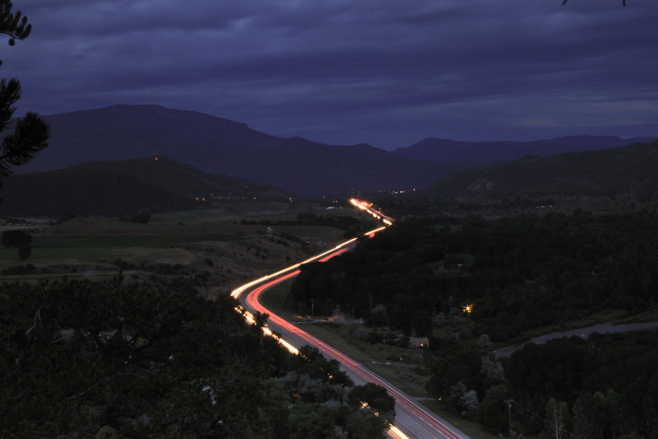 Lights from Carbondale to Basalt (by tobyharriman)